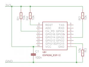 Минимальное подключение ESP8266 (повышенная стабильность)