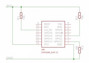 Минимальное подключение ESP8266