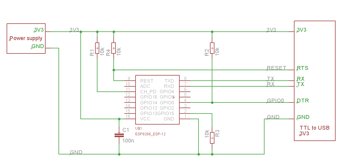 Temperature logger on ESP8266 + DS18B20 and ThingsPeak - DIY