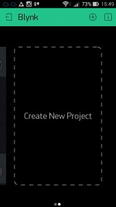 Создание нового проекта в Blynk