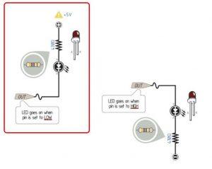 Подключение светодиода к выходу микроконтроллера