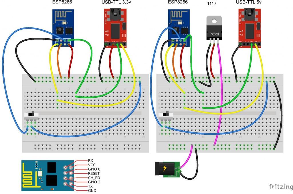 ESP8266 - подключение и обновление прошивки