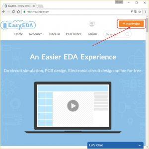 Создание нового проекта в EasyEDA