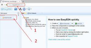 Создание вашего первого проекта в EasyEDA